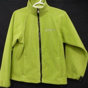 Columbia Sportswear lime green fleece jacket
